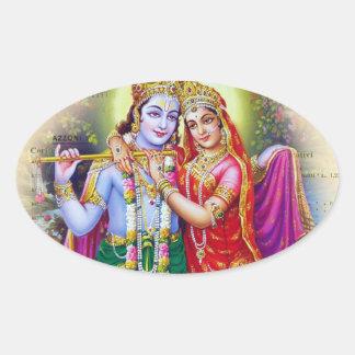 Krishna Pegatina Ovalada