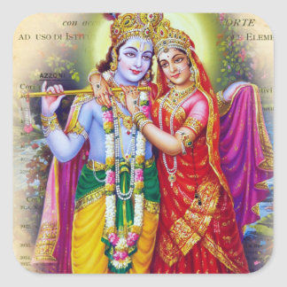 Krishna Pegatina Cuadrada