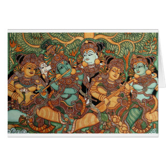 KRISHNA PLAYING THE FLUTE CARD