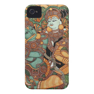 KRISHNA PLAYING THE FLUTE iPhone 4 Case-Mate CASES