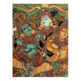 KRISHNA PLAYING THE FLUTE POST CARD