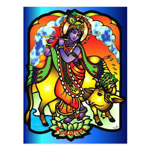 Krishna Postcard