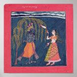 Krishna que toca una flauta, del 'Vahula Póster