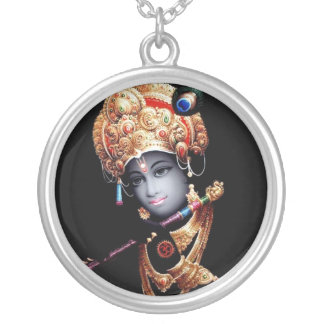 Krishna Silver Plated Necklace