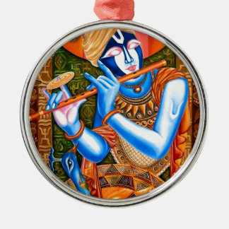 KRISHNA THE FLUTE PLAYER INDIAN ABSTRACT ORNAMENTS