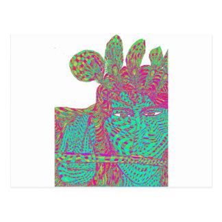 Krishna Torquoise Postcard