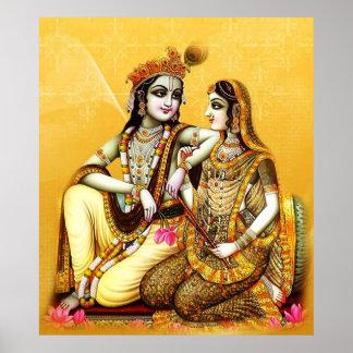 krishna with radha poster