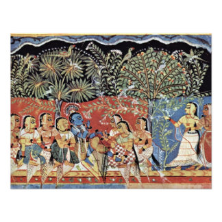 Krishna y el bosque de Gopas del varón de Westindi Invitacion Personal