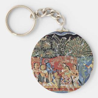 Krishna y el bosque de Gopas del varón de Westindi Llaveros
