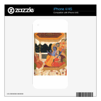 Krishna y Radha Calcomanías Para iPhone 4