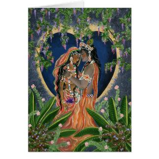 Krishna y Radha Tarjeta De Felicitación