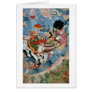 Krishna's combat with Indra, c.1590 Card