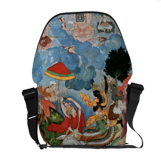 Krishna's combat with Indra, c.1590 Courier Bag