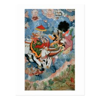 Krishna's combat with Indra, c.1590 Postcard