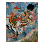 Krishna's combat with Indra, c.1590 Poster