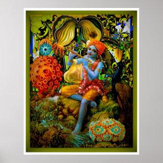 Krishna's Flute Poster