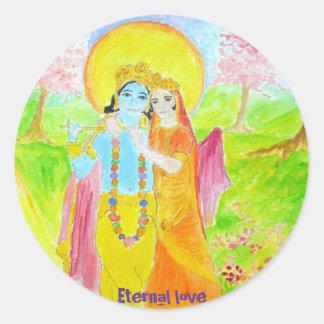 krisna, Eternal love Classic Round Sticker