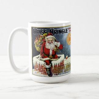 Kriss Kringle Brand Vintage Fruit Label Coffee Mug
