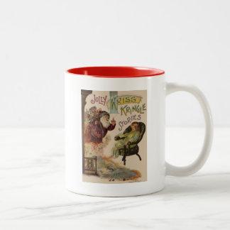Kriss Kringle Stories of Santa Two-Tone Coffee Mug