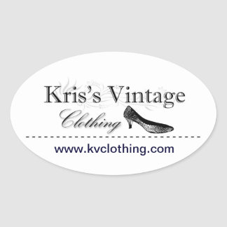 Kris's Vintage Clothing Oval Stickers