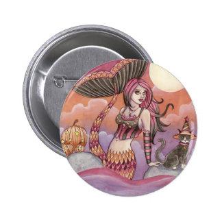 Krista - Halloween Mermaid Button