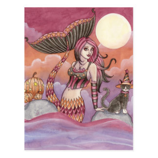 Krista - Halloween Mermaid Postcard