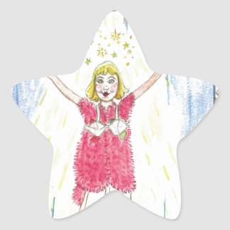 Krista-Link-a-La & the Size 13 Shoes Curtain Call Star Sticker
