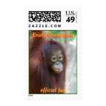 Krista Orangutan official fan Postage Stamp