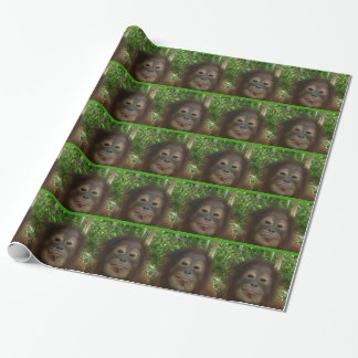 Krista Orangutan Smiley Face Gift Wrapping Paper
