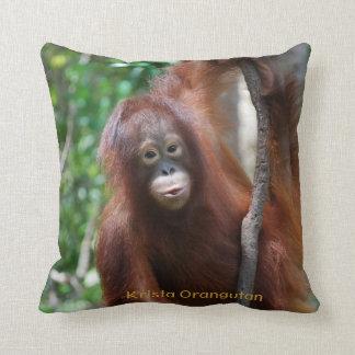 Krista Orangutan Throw Pillow