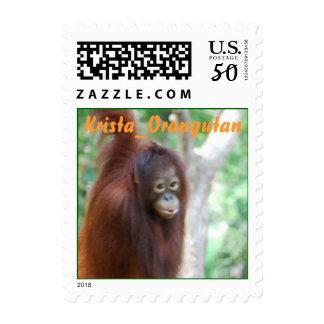 Krista Orangutan Wildlife Postage