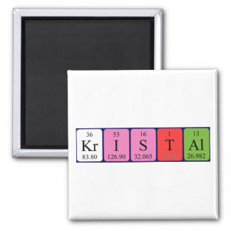 Kristal periodic table name magnet