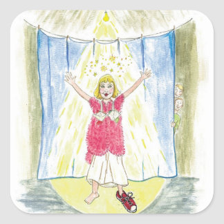 Kristalinkala and the size 13 shoes curtain call square sticker