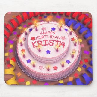 Krista's Birthday Cake Mouse Pad