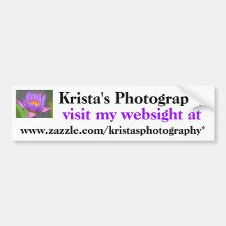 Kristas Photography Bumper Sticker #12  1212
