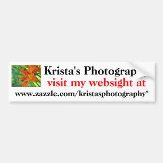 Kristas Photography Bumper Sticker #19  1919