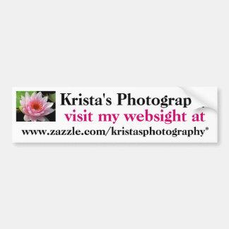 Kristas Photography Bumper Sticker #1  01