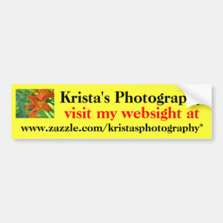 Kristas Photography Bumper Sticker #20 2020