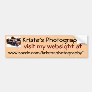 Kristas Photography Bumper Sticker #22 2222
