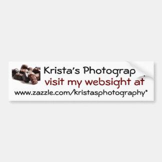 Kristas Photography Bumper Sticker #23 023