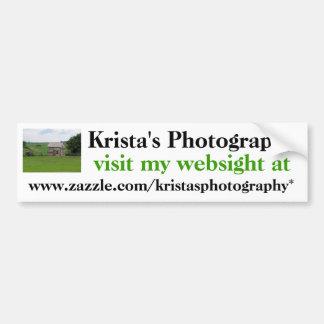 Kristas Photography Bumper Sticker #25  025