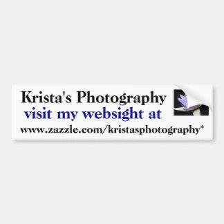 Kristas Photography Bumper Sticker #27  027