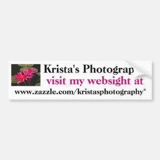 Kristas Photography Bumper Sticker #2  02