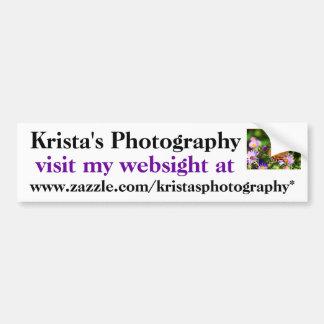 Krista's Photography bumper sticker # 30