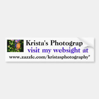 Krista's Photography bumper sticker # 31