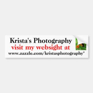 Kristas Photography bumper sticker #4 4040
