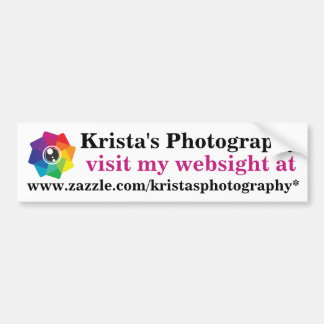 Kristas Photography logo bumpersticker 1 Bumper Sticker
