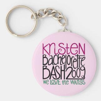 Kristen Bachelorette Bash 09 Basic Round Button Keychain