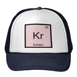 Kristen  Name Chemistry Element Periodic Table Trucker Hats