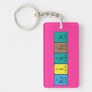 Kristen periodic table name keyring keychain